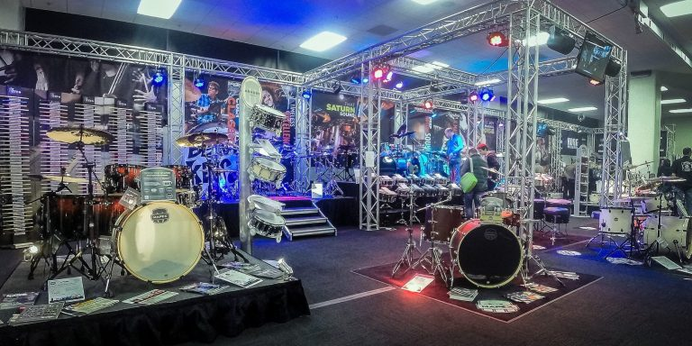 Korg drum show exhibition rental and build