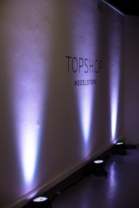 Topshop Event wireless Uplighting