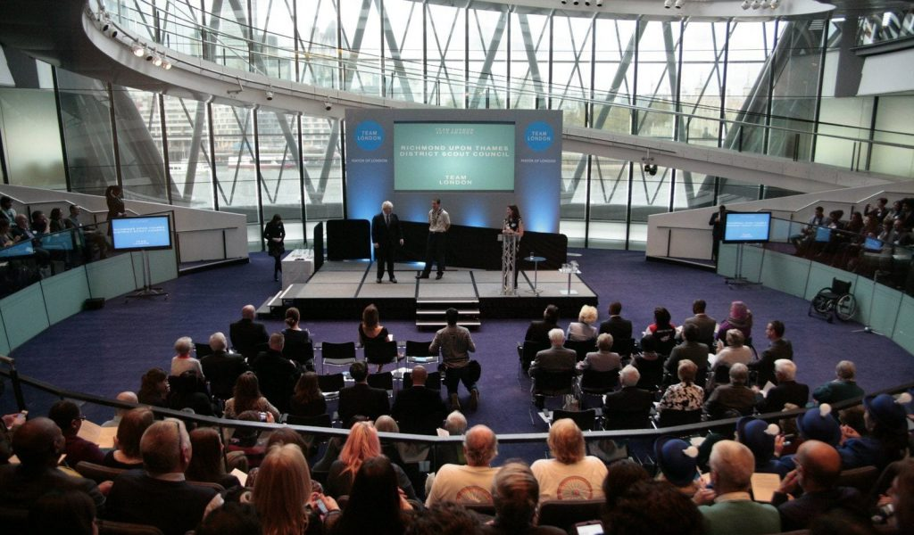 Large screen hire event in London