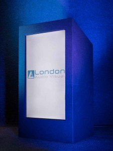 Lectern with LCD LED screen inside