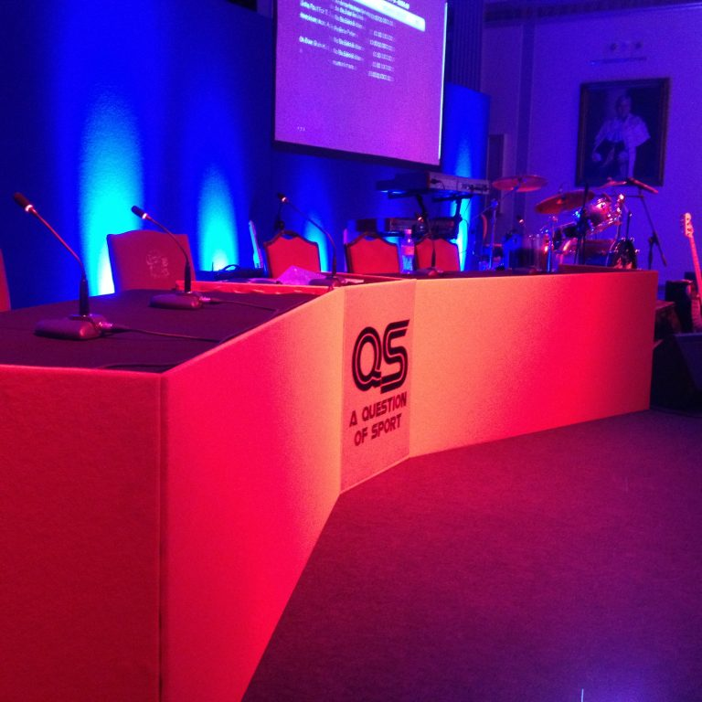 Sochi Fundraiser Event Production - Stage judging & host seating panel