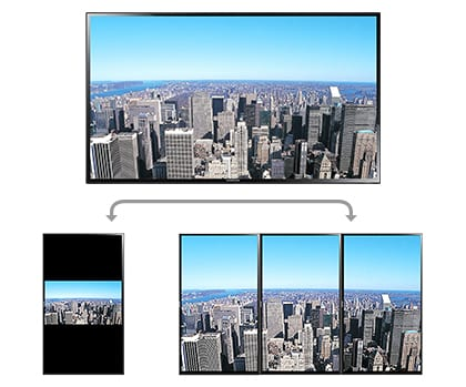 "95"" Screen can be portrait or landscape"