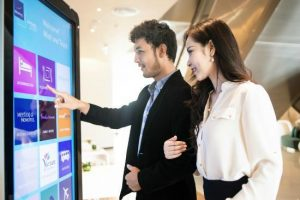 Interactive touch scree walls