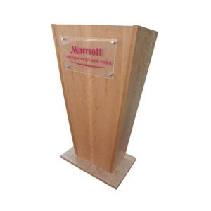 Wooden Lectern with logo section