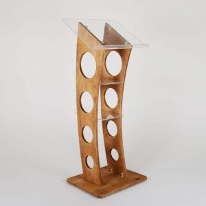 cuverd wooden lectern