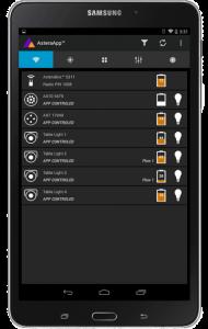 Astera Lighting app