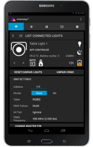 Change your light's DMX addresses