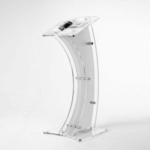 white-perpex-lectern