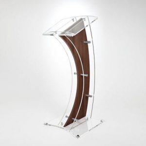 wooden acrylic lectern