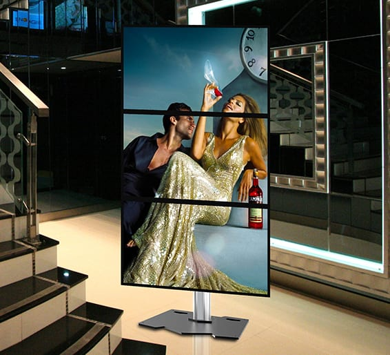 1 x 3 video wall hire for shop retail or exhibitions