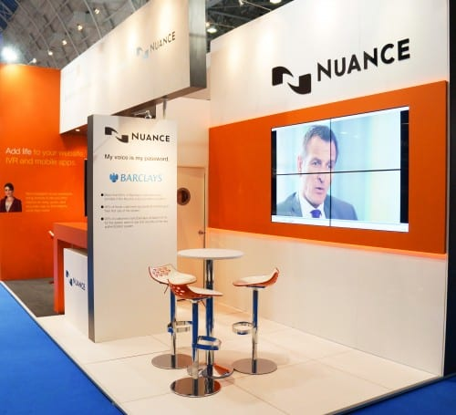 2x2 video wall for exhibition stand