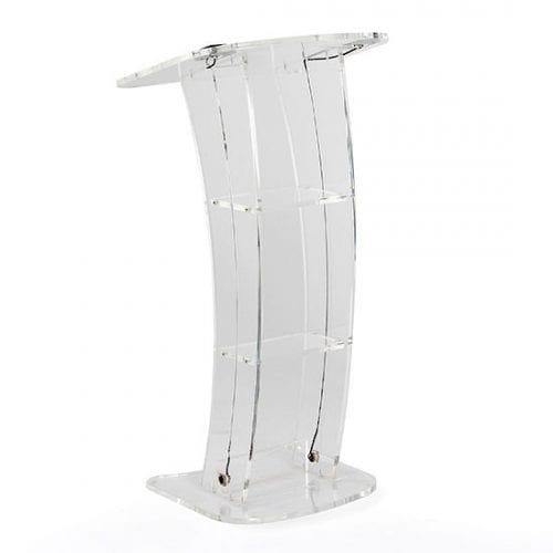 lectern clear acrylic hire