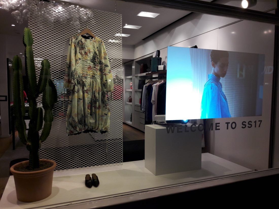 Retail display projector