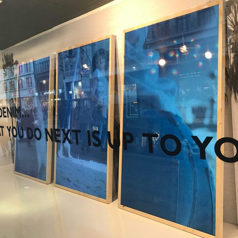 Window display screen in London