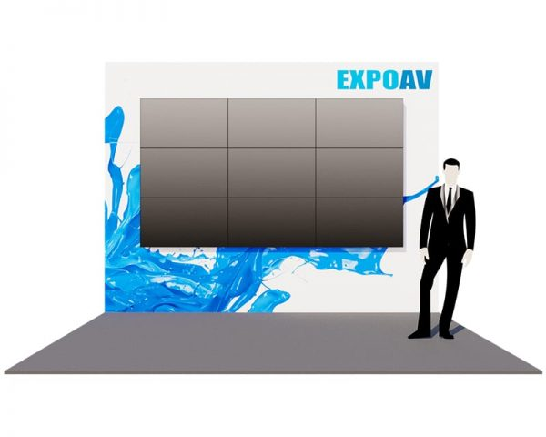 Large INDIGO Exhibition Stand Hire with videowall
