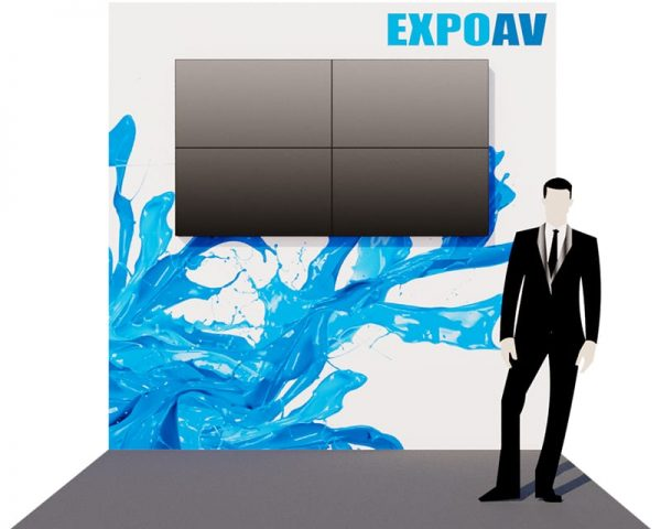 Exhibition stand with video wall