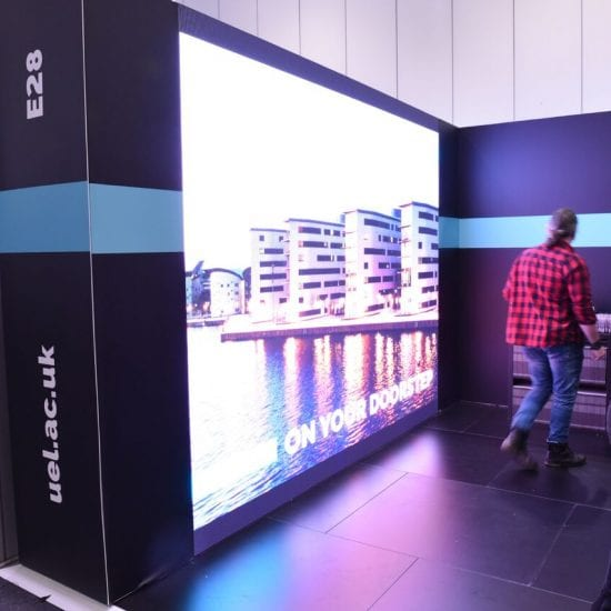 UEL LED wall and Exhibition Stand Excel London