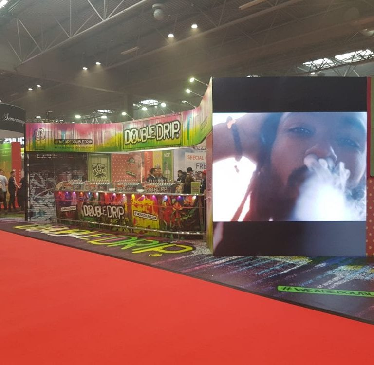 LED Wall and LEDskin for Vape show for Core exhibitions