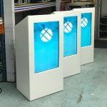 Digital Lecterns with built in screens.