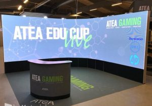 Image from - Danish stand builder More Than Event made an impressive visual solution for ATEA
