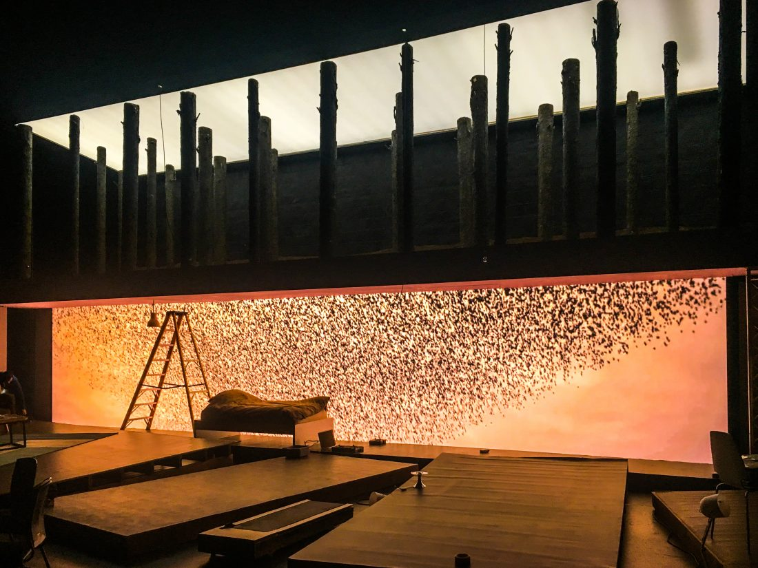 LED wall hire for the second violinist barbican - Large LED wall