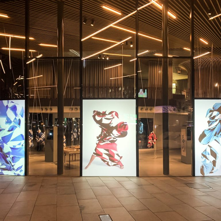Retail Shop Window Projection