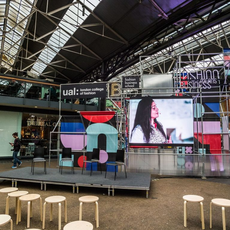 LED Video Wall & Audio Visual for UAL at old Old Spitalfields Market - Design By Joana Filipe
